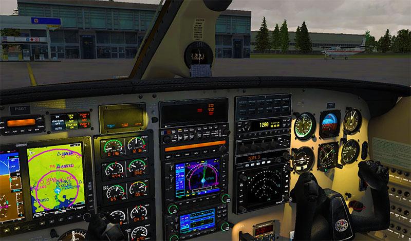 Piper Malibu cockpit.