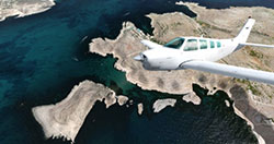 Flying over the coastline of Malta using the scenery in P3Dv4.