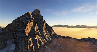 Summit of Matterhorn in MSFS.