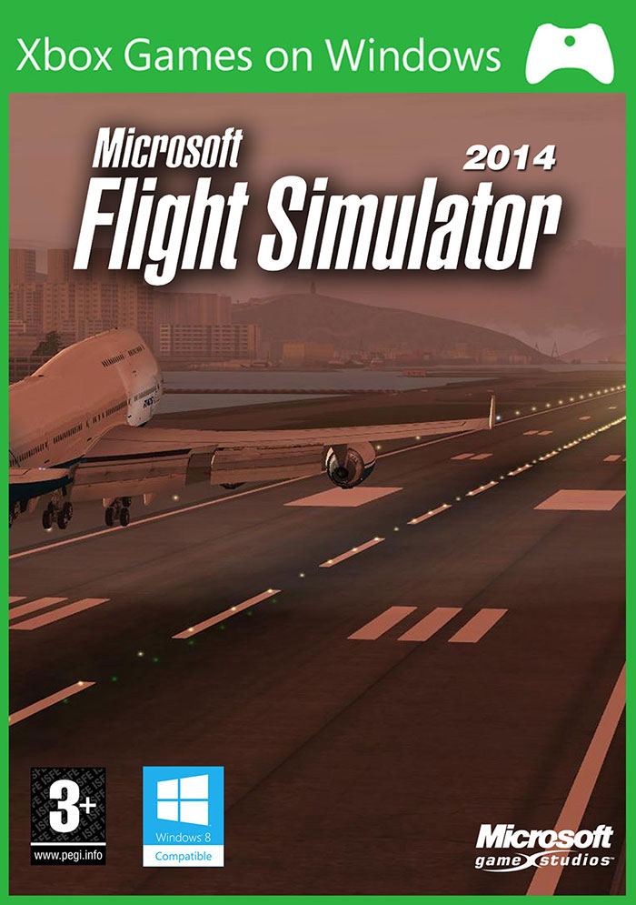Microsoft Flight Simulator 2014 leaked box artwork