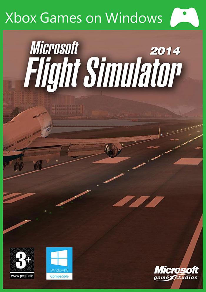 Microsoft Flight Simulator 2014 leaked box artwork