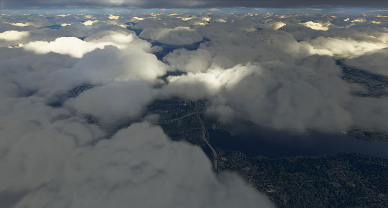 Highly detailed cloud layers.