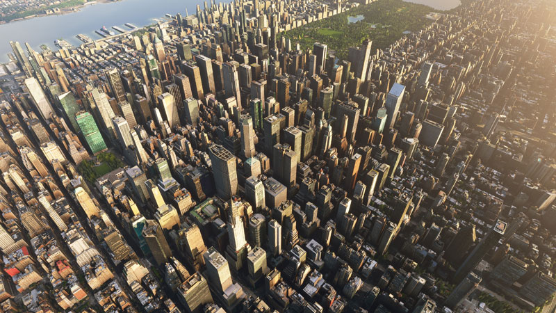 New York with 3D buildings.