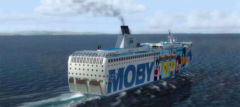 Moby Wonder – on route to Sardinia