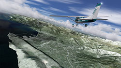 Screenshot using the Montenegro scenery in P3Dv4.