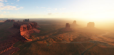Image showing Monument Valley scenery add-on installed in Microsoft Flight Simulator (2020) release.