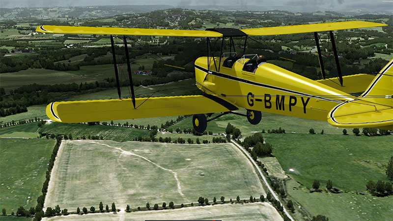 De Havilland Tiger Moth in P3D.