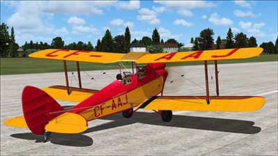 CF-AAJ aircraft repaints installed on the DH 60 Moth add-on for FSX and P3D.