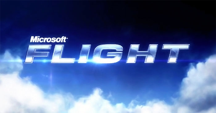 Microsoft Flight logo and headline from their website.