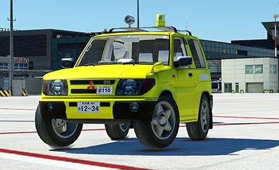 MSFS drivable Mitsubishi Pajero/Shogun ground vehicle.