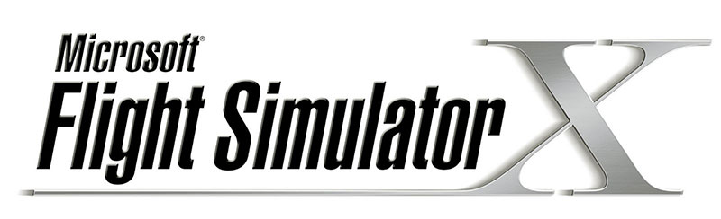Microsoft Flight Simulator X logo.