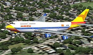 Hang Kong Vietnam aircraft on approach to landing