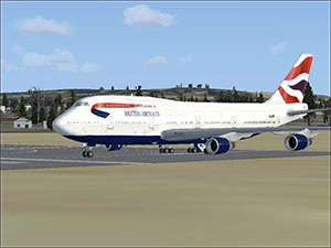 British Airways 747 on runway