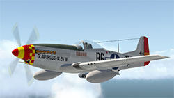 Mustang in flight in XP11.