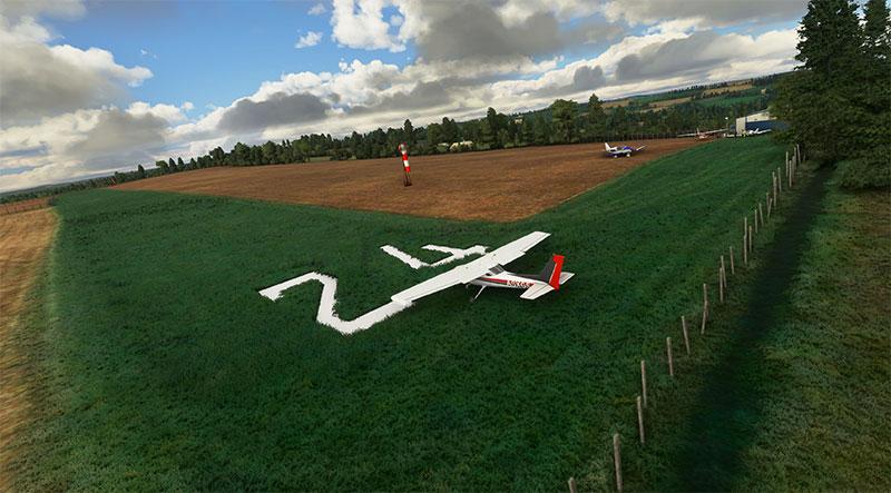 UK airfields and grass strips screenshot.