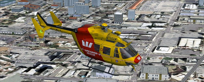 Nemeth BK-117 rescue helicopter in FSX