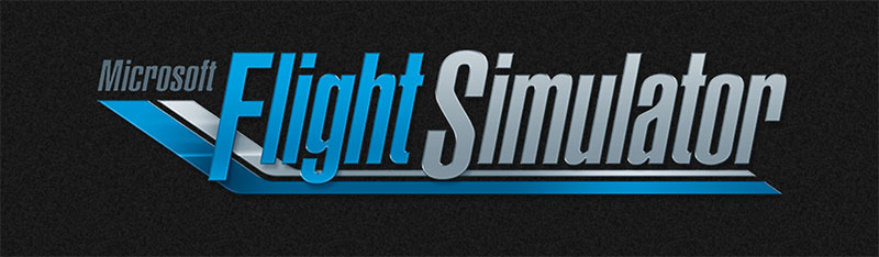 The new Microsoft Flight Simulator logo.