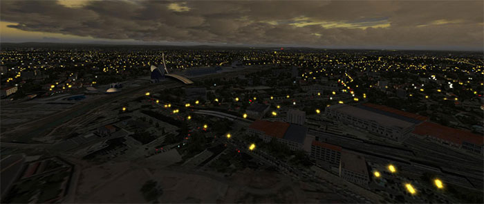Demonstration of night lighting