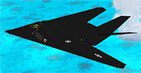 F-117 in FSX over sea.