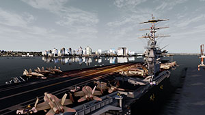 USS Nimitz Aircraft Carrier being displayed in P3Dv4.