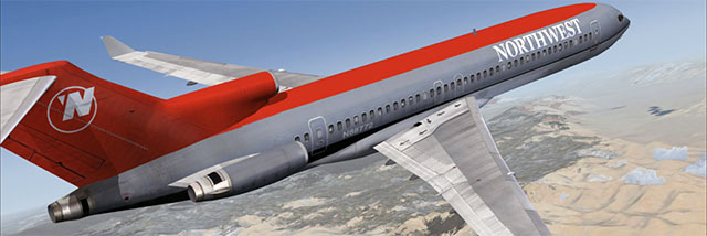 Northwest Boeing 727 from Just Flight's 727 Captain add-on