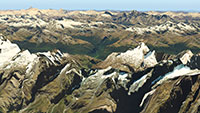 Example of NZ Mountain ranges in photorealistic detail.