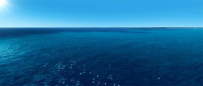 Screenshot showing ocean with REX4