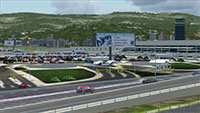 Demonstration of the scenery in FSX.