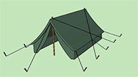 Old style camping tent.