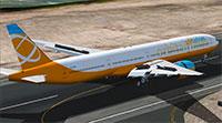 Orbit 777 on runway in FSX.