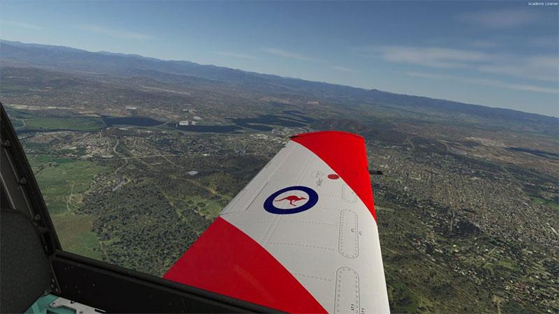Over Australia.