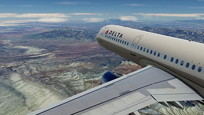 Screenshot showing the scenery in action in P3Dv5.