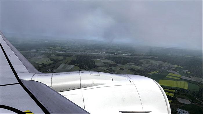 An overcast approach.