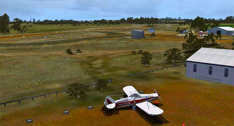 Australia airfield scenery in FSX.