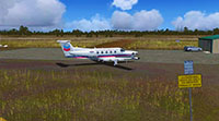 One of the OZx airfield scenery packages displayed in FSX.