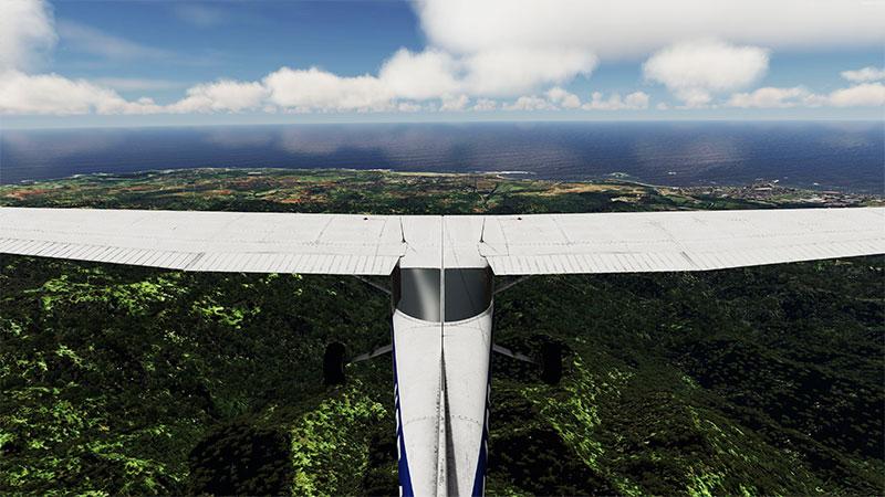 Cessna over Hawaii Island in P3Dv5.