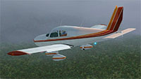 Piper PA28-180 Cherokee in flight.