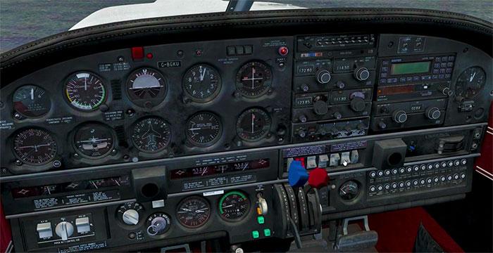 The PA28 Virtual Cockpit.