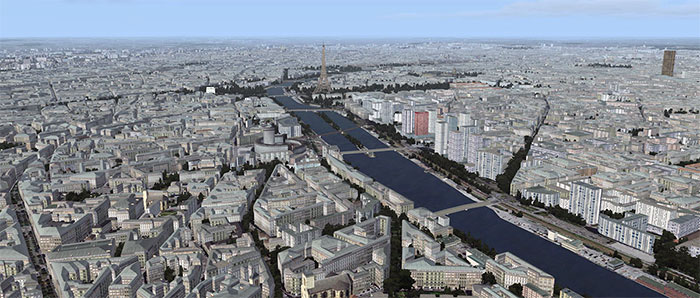 Paris overview with the Eifel tower in the distance