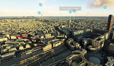 Paris overview in MSFS after installing the add-on.