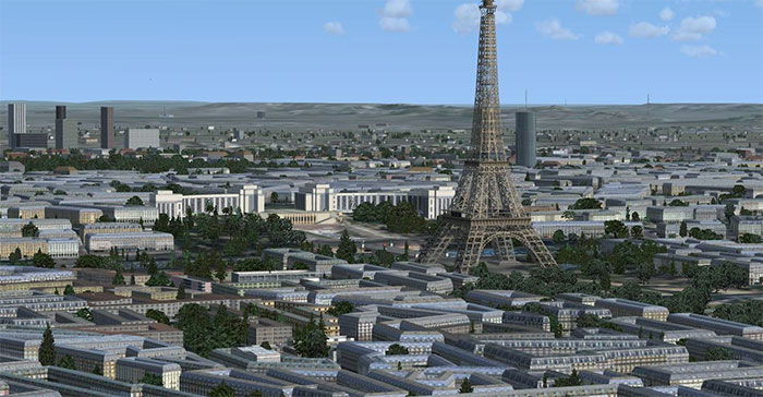 Paris Scenery in FSX.