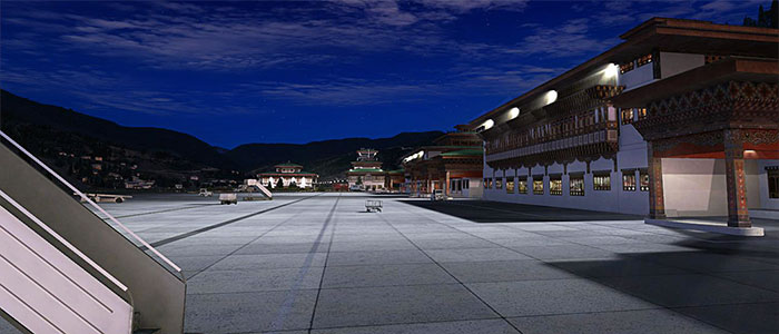 Paro terminals at night