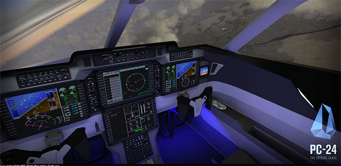 Virtual cockpit of the PC-24