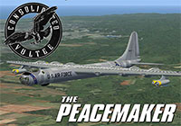 B-36 Peacemaker in flight artwork.
