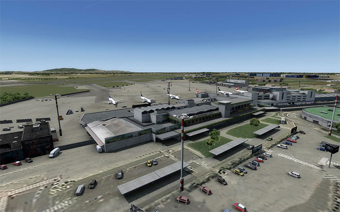 Overview of Pisa International Airport.