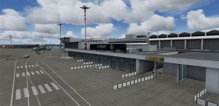 Terminal building.