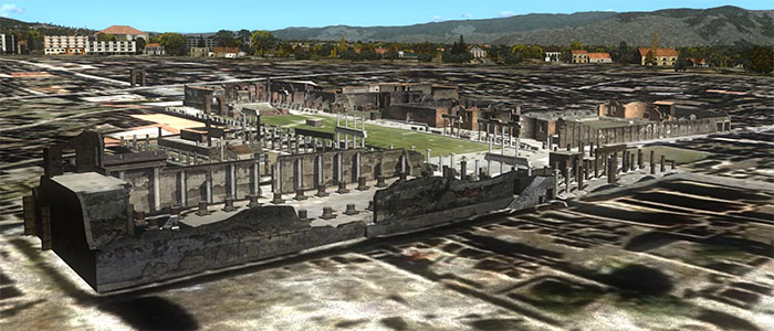 Pompeii buildings.