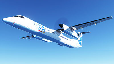 Flybe in MSFS paint for the new Dash 8 Q400 in MSFS (2020).