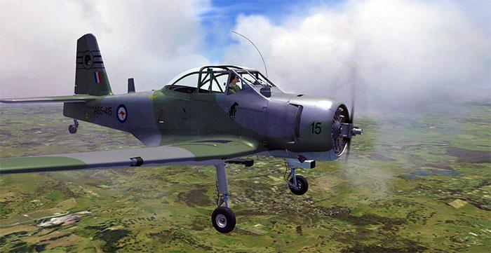 RAAF Winjeel in flight