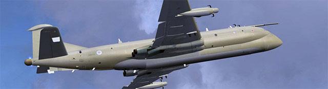 Brian Franklin's RAF Nimrod in flight
